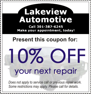 Lakeview Automotive Coupon - Internet Only